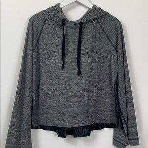 Lou &Grey grey/black long sleeved hooded pullover